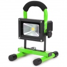 Portable Outdoor Camping 10W Rechargeable Waterproof 1-LED Cool White Light Project Lamp w/ EU Plug