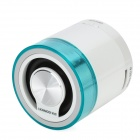 iKANOO M16 Mini USB Rechargeable Music Speaker w TF Card / FM - White + Blue