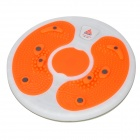 Lenwave 1500 Magnetic Therapy Thin Taille Aerobic-Übung Twist Board - Orange + Weiß + Grau