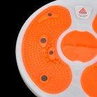 Lenwave 1500 Magnetic Therapy Thin Waist Aerobic Exercise Twist Board - Orange + White + Grey