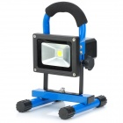 Portable Outdoor Camping 10W Rechargeable Waterproof LED White Light Project Lamp - Blue