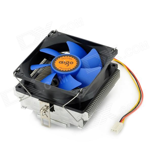 aigo M5 PVC + Aluminum 2500RPM CPU Cooler - Blue + Silver + Black new original cpu cooling fan for lenovo thinkpad e430 e435 e430c e530 e535 heatsink 4 pins dc 5v cooler free shipping