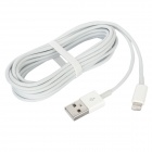 8-Pin Lightning Male to USB Male Data / Charging Cable w/ Aroma for iPhone 5 - White (300cm)