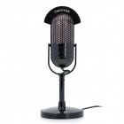 CHENYUN CY-509 Retro Style 3.5mm ABS Standing Microphone - Black + Chestnut Brown