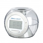 01 Mini 7-Color Changing Alarm Clock - Transparent + White (3 x AAA)