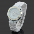 Daybird 3702 Fashion Ceramic Band Quartz Wrist Watch - White