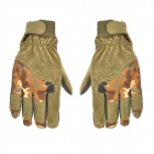 Outdoor Full-Finger Windproof Warm Gloves for Men - Brown Army Camouflage