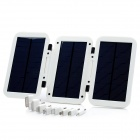 Folding Solar Powered Rechargeable 6000mAh Battery Pack w/ Adapters for Mobile Phones / iPad - White
