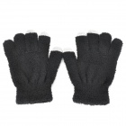 ST-1 Capacitive Screen Hand Warmer Touching Touch Gloves for Iphone 5 / Ipad MINI - Black (2 PCS)