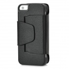 Bluetooth V3.0 49-Key Keyboard w/ Protective PU Leather Case for Iphone 5 - Black