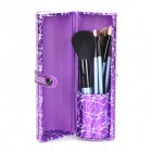 TUBE Professional 7-in-1 Cosmetic Makeup Brush Set w/ PU Case - Purple