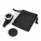Universal Wide Angle Macro Lens w/ Clip for iPhone 4 / 4S / iPad 2 / The New iPad - Black + Silver