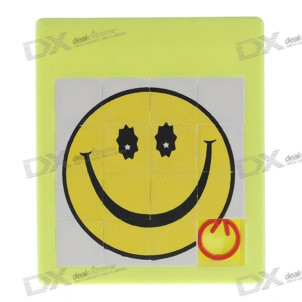 Smiling Face Brain Teaser Sliding IQ Puzzle bead in cage wooden puzzle brain teaser iq toy