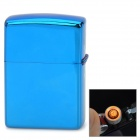 FE802 USB Rechargeable Electronic Cigarette Windproof Lighter - Blue