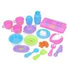 Cooking Kitchen Tableware Education Toy Set - Multi-Colored