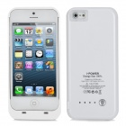 External 2200mAh Battery Back Case for iPhone 5 - White