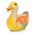 T8954C Light Control Electric Funny Duck Toy - Yellow + Orange (3 x AA)