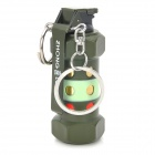 R5015C Sapper Screw Shaped Yellow Flame Butane Lighter w/ Clip / Key Ring - Green