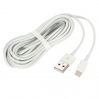 8-Pin Lightning Male to USB Male Data / Charging Cable for iPhone 5 + More - White (400cm)