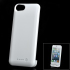 2-in-1 Protective ABS Back Case + Portable 3.7V 2000mAh External Power Battery for iPhone 5 - White