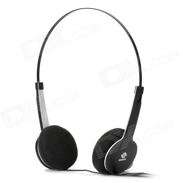 SNIKE QHS-901 Cool Slim Headphone Headset w/ Microphone - Black (3.5mm Plug / 110cm-Cable) stylish headset w microphone volume control for dell mini 5 streak 3 5mm jack 120cm cable