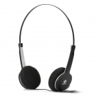 SNIKE QHS-901 Cool Slim Headphone Headset w/ Microphone - Black (3.5mm Plug / 110cm-Cable)