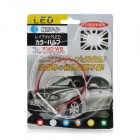 LY184 4.5W 180lm 45 - SMD 1210 LED RGB tira del coche de la lámpara flexible (12 V / 15 cm)