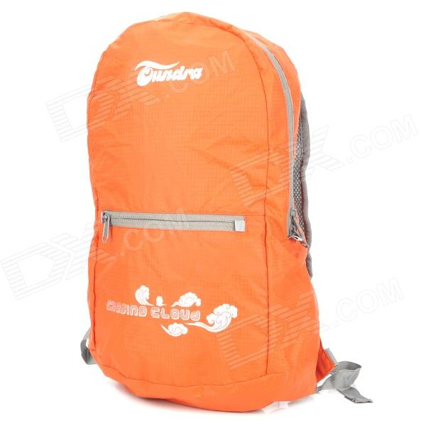 TUNDRA Outdoor Portable Folding Waterproof Nylon Backpack for Mountaineering Camping - Orange (20L)