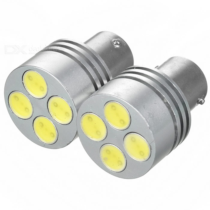 Car Brake Silver Light 4 LED 2W DC12V (2-Pack)