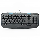 X-S509 USB Wired 103-Key Water Resistant Gaming Keyboard - Black + Blue (155cm- Cable Length)