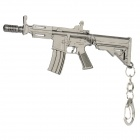 142 Unique Zinc Alloy Toy Gun Keychain - Silver Black