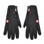 Windproof Screen Touching Bicycle Cycling Hand Warmer Gloves for Men - Black (Pair / Size-XL)