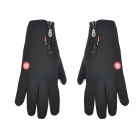 Windproof Screen Touching Bicycle Cycling Hand Warmer Gloves for Men - Black (Pair / Size-L)
