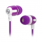 Senmai SM-E1018 Stilvolle In-Ear Flat Cable Kopfhörer - Purple + Weiß (3,5 mm Klinkenstecker)