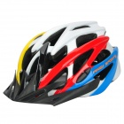 ANQI 816 Outdoor Bicycle Cycling EPS + PC Helmet w/ Adjustable Strap - Multi-Colored