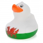 Dragon Pattern Cute Floating Baby Duck Bath Toy - White + Red
