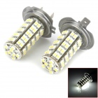 H7 3.5W 320lm 68-SMD 3528 LED White Light Car Brake Light (DC 12V / 2 PCS)