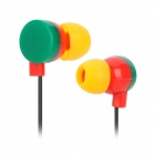 KEEKA KA-10 Cute Circle In-Ear Headphone - Multi-colored