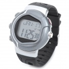 Multifunction Pulse / Heart Rate / Calorie Wrist Watch - Silver + Black