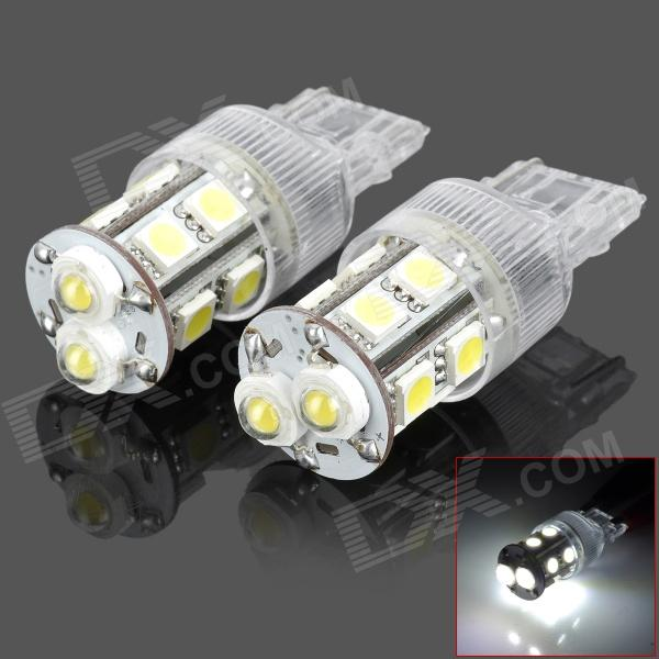 PointPurple D1312W T20 5W 300lm 2-LED + 10-SMD 5050 LED White Car Backup Light (2 PCS / 12V) pointpurple d