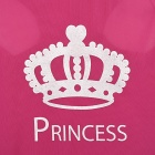 Cute Princess Crown Стиль жилет собак Одежда Одежда для питомцев - Deep Pink (размер L)