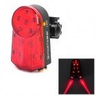 10-LED Red 4-Mode Laser Bicycle Tail Light - Black + Red (2 x AA)