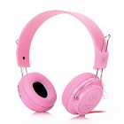 Feinier FE186 Stereo Headphones w/ Microphone + Volume Control - Pink (3.5mm Plug / 200cm-Cable)