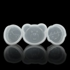 03 DIY Food Mold Tray for Japanese Sushi / Riceball / Cake - White (3 PCS)