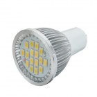 G5.3 6W 220V 420lm 3000K Warm White LED Light - Silver + White
