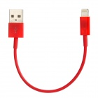 8-Pin Lightning Male to USB Male Data / Charging Cable for iPhone 5 - Red (15cm)