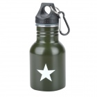 AOSITE SW2131 Outdoor Portable Stainless Steel 2-Layer Water Kettle - Army Green (130mL)