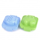 Cute Shape PP Plastic Boiled Egg Rice Mold Food Maker - Blue + Green