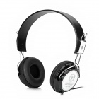 Feinier FE186 Stereo Headphones w/ Mic + Volume Control - Black + White (3.5mm Plug / 200cm-Cable)