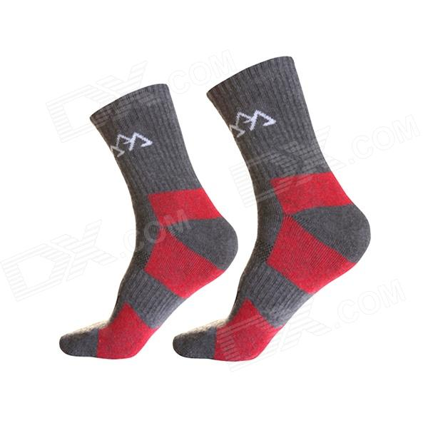 Outdoor Man Thicken Fast Drying Warm Protection Mountaineering Socks - Deep Grey (Pair / Size L)